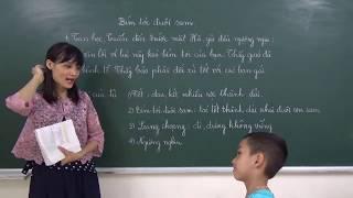 Tiếng Việt lớp 2: Bím tóc đuôi sam - Đoạn 3,4 (Tập đọc và trả lời các câu hỏi)