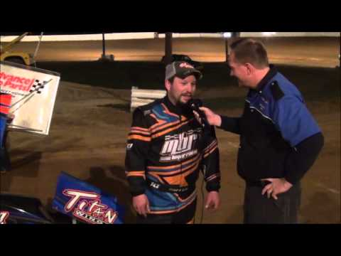 Mike Boyer in victory lane at Path Valley 3-26-16