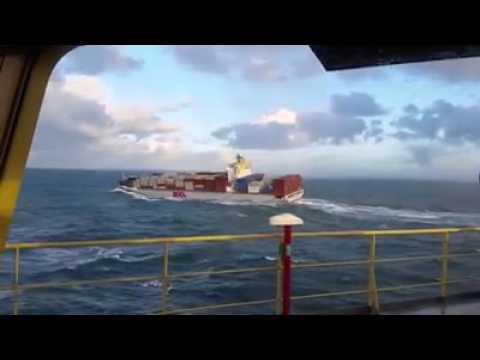 rolling and pitching of the ship