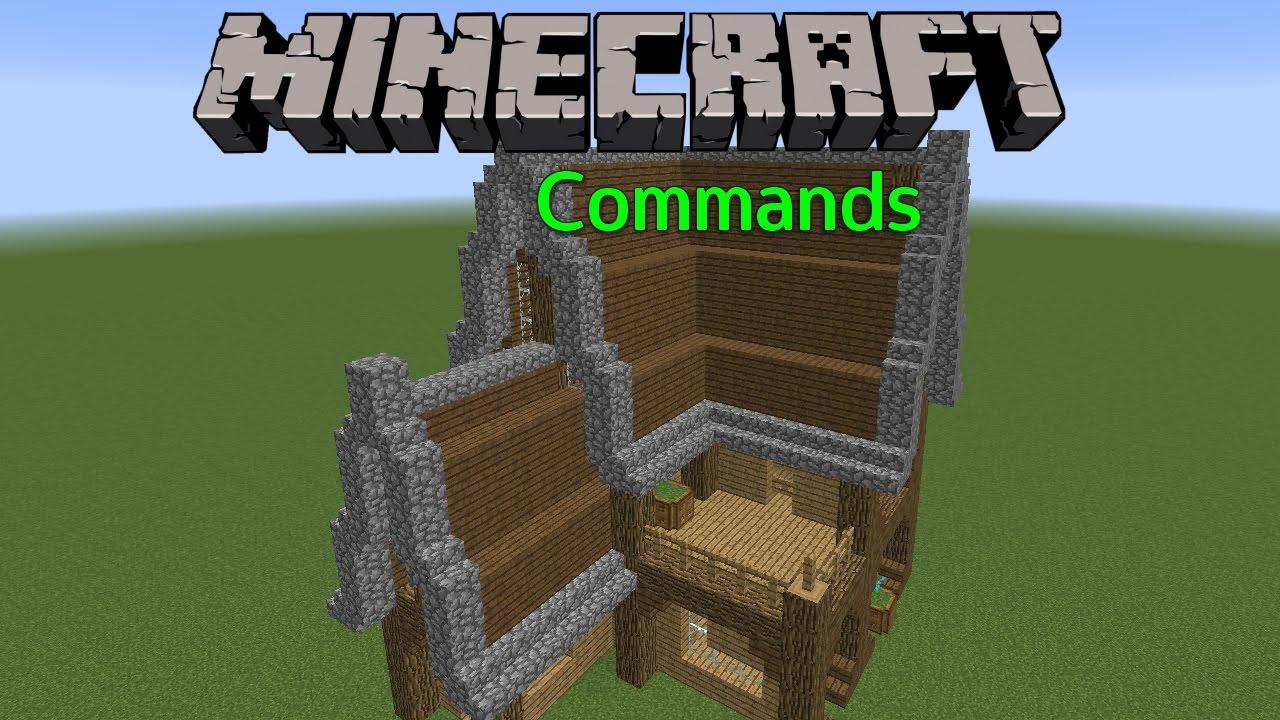 Selbstbauendes Haus Minecraft Commands Streetmaster - Minecraft mittelalter haus command