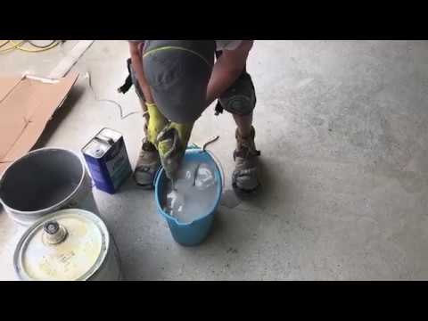 DIY Epoxy Garage Flooring -Mixing – Applying Epoxy to Your Garage Floor:
