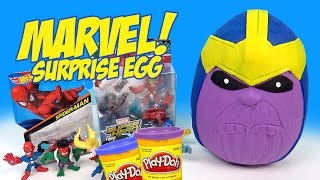 Avengers Toys Play-Doh Surprise Egg w/ Marvel Avengers THANOS, SPIDERMAN Toys by KidCity