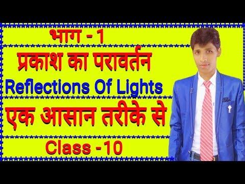 प्रकाश का परावर्तन ( Reflections Of Light ) Class - 10 All Board In Hindi(1)