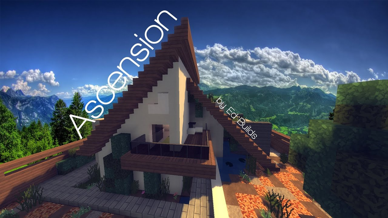 modern a frame house minecraft showcase youtube