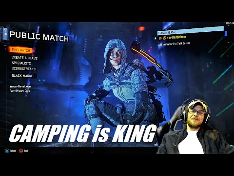 BLACK OPS 3 Hardcore Free For All : CAMPING is HOW to WIN : ( BO3 higher KD )