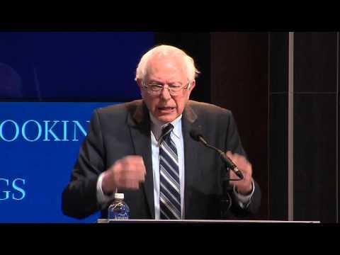 Sen. Bernie Sanders at The Brookings Institution