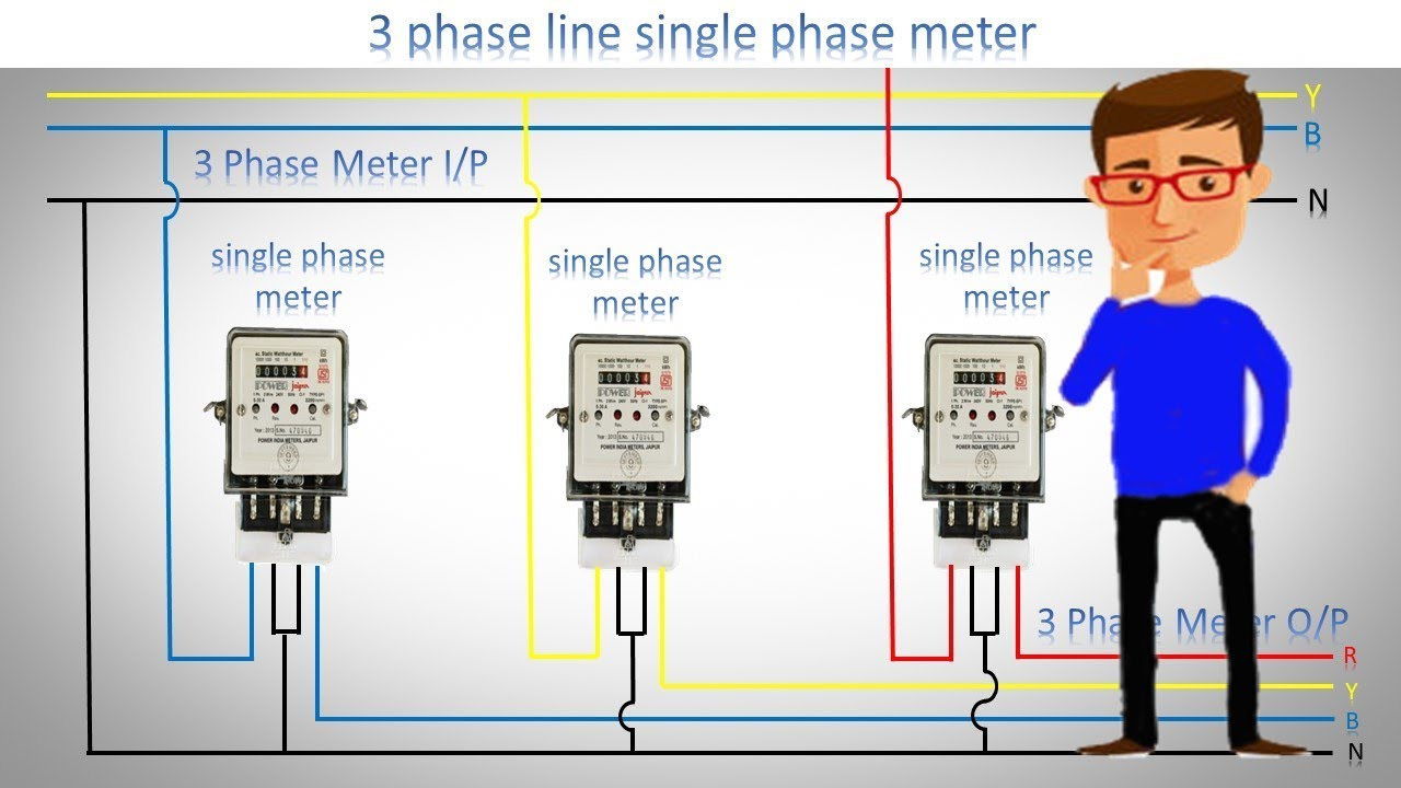 Three Phase Db Wiring Diagram Schematic Diagrams 3 Line Single Meter 1 Connection Spa Timer