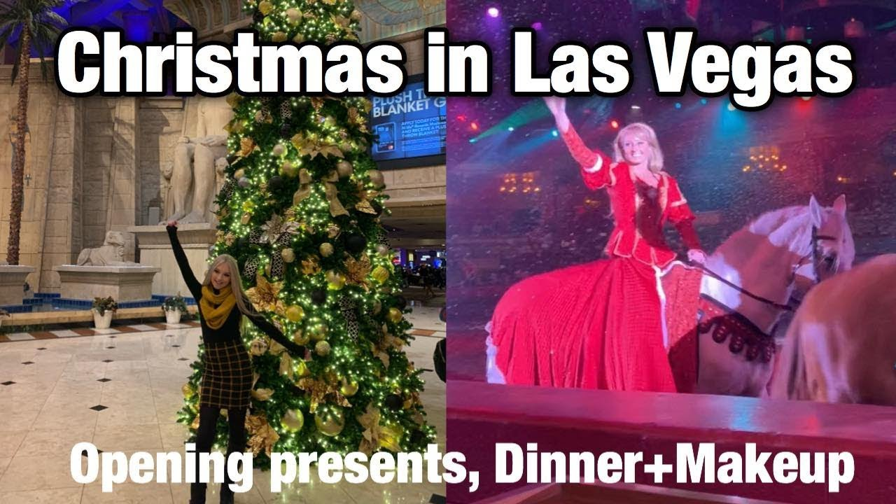 Christmas In Vegas.Christmas Day 2018 In Las Vegas Opening Presents Makeup By Sephora Vegas Shows