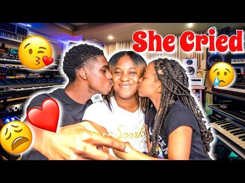 SURPRISED OUR MOM WITH OUR NEW SONG! |SHE CRIED