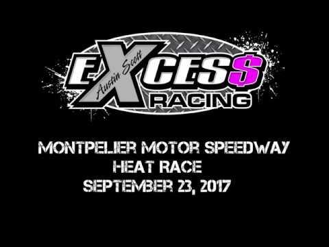 Montpelier Motor Speedway - Heat Race - September 23, 2017 (Austin Hunter)