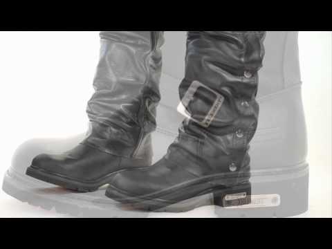 188cbd1897f 1445 Xelement Men's Motorcycle Steel Toe Engineer Boot at LeatherUp ...
