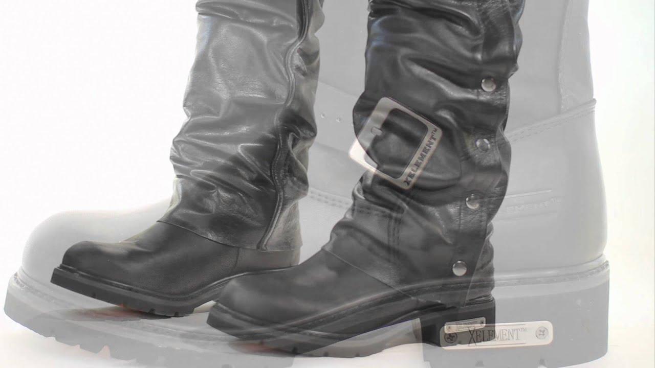 1445 Xelement Men's Motorcycle Steel Toe Engineer Boot at ...