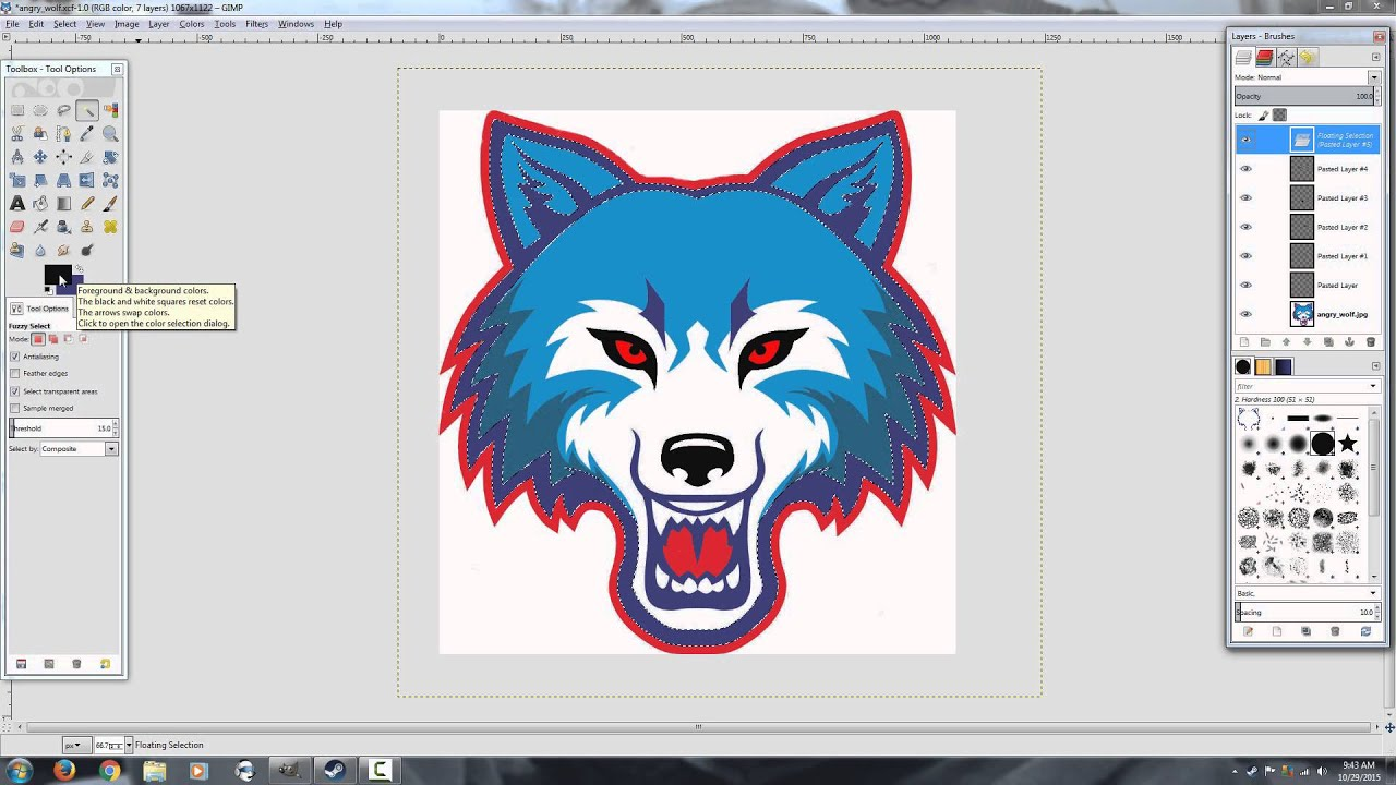Gimp Tutorial How To Copy And Paste In The Same Location Star Wolf