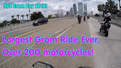 Largest Honda Grom Ride EVER! 904 Grom Day 2018. Jacksonville, Florida.