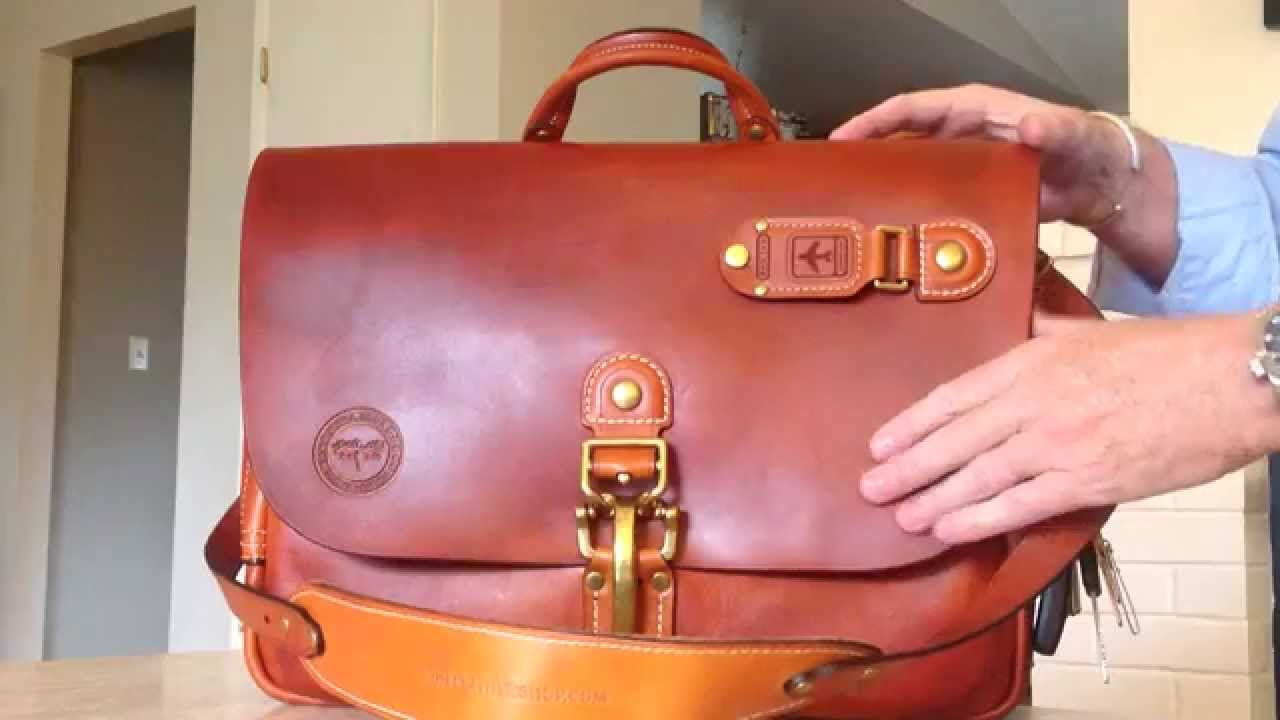 Heirloom Messenger Bag made by the Moose Leather Shop, Seattle ...