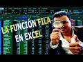 Como obtener el numero de la fila de una celda con la función FILA en excel