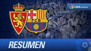 Resumen de Real Zaragoza (4-0) FC Barcelona B