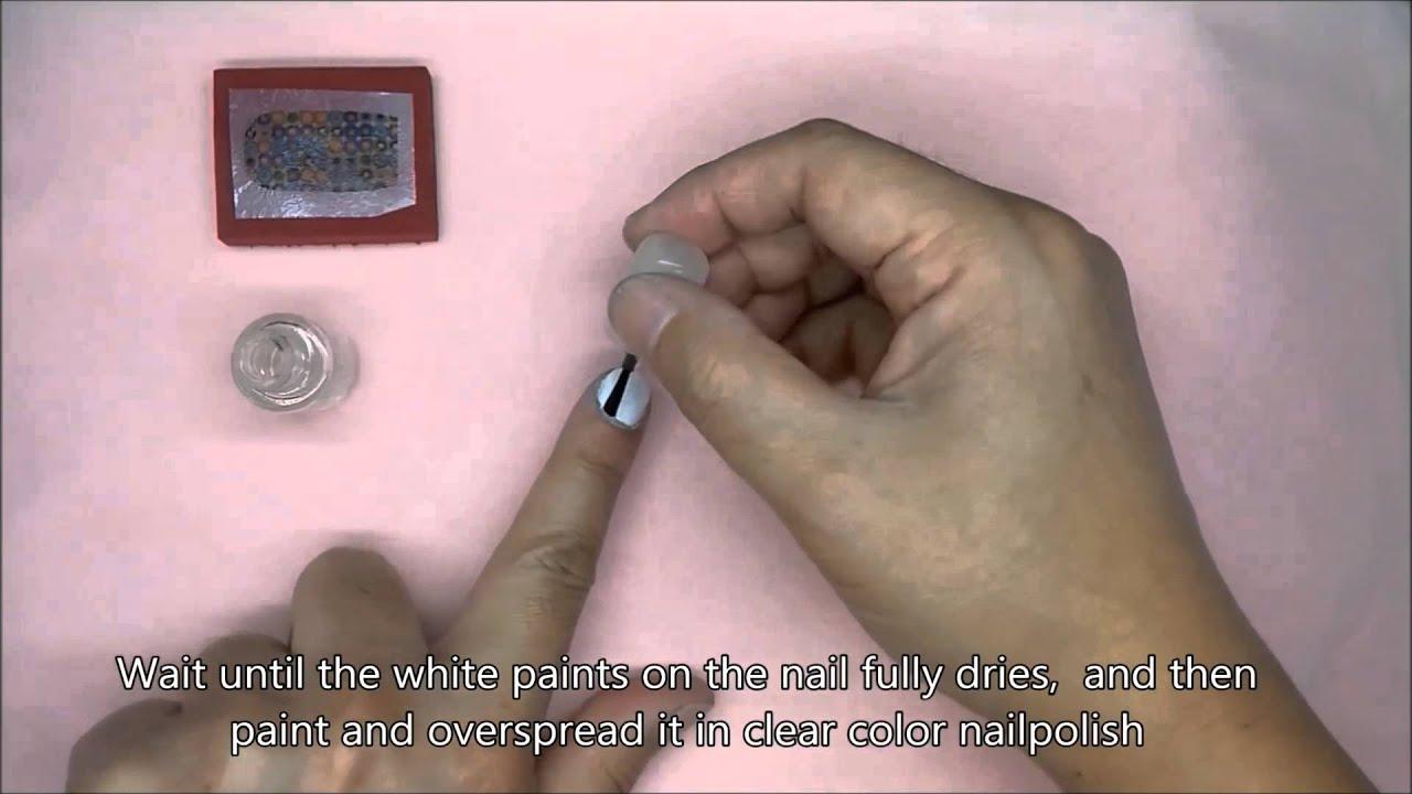 Diy Transfer Nail Art Image To Nail Youtube