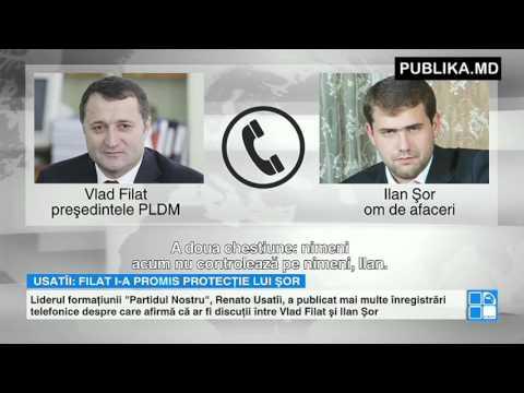 INTERCEPTĂRI TELEFONICE: Ce ar fi vorbit Vlad Filat cu Ilan Shor.