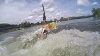 Wake Džbán 2016 08 - the first experience with a wakeboard