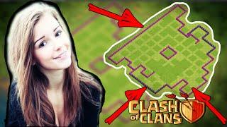 моя ДЕВУШКА сделала самую НЕпробиваемую базу в Clash of Clans♦урок 17