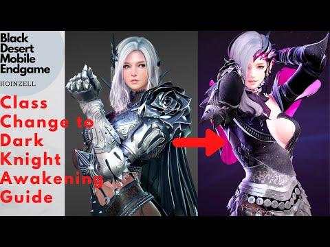 Black Desert Mobile Endgame Class Change from Dark Knight Ascension to Awakening