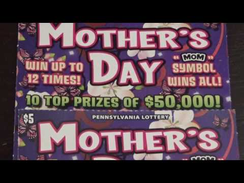Big Winner $5 Mothers Day Pennsylvania Lottery Scratch Off!