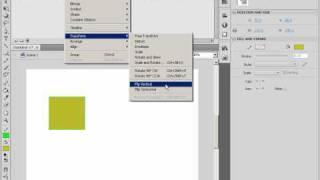 Зеркальное отражение объектов и поворот в Adobe Flash (20/46)