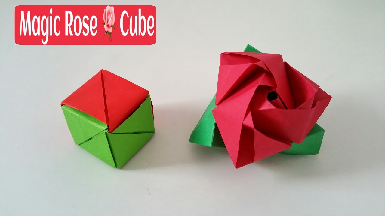 Magic Rose Cube  Diy Modular Origami Tutorial By Paper Folds �  Youtube