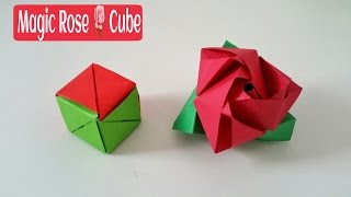 Magic Rose Cube - DIY Modular Origami Tutorial by Paper Folds ❤️