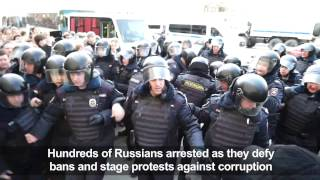 Russian opposition leader among hundreds arrested at Moscow protest