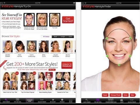 Sneak Peek Instyle S Hair Try On Ipad App Youtube