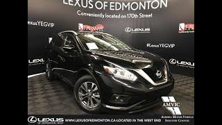 Black 2015 Nissan Murano SL Review Edmonton Alberta - Lexus of Edmonton