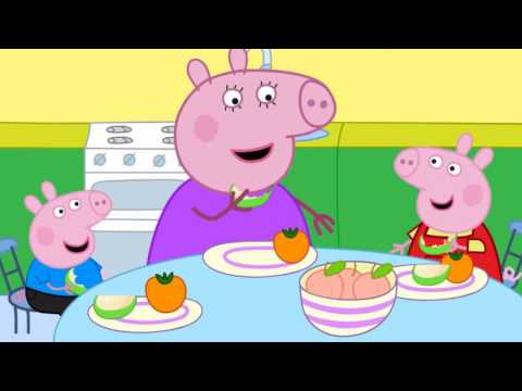 Peppa cut her finger, and her mother pig cured  Peppa Pig cartoon