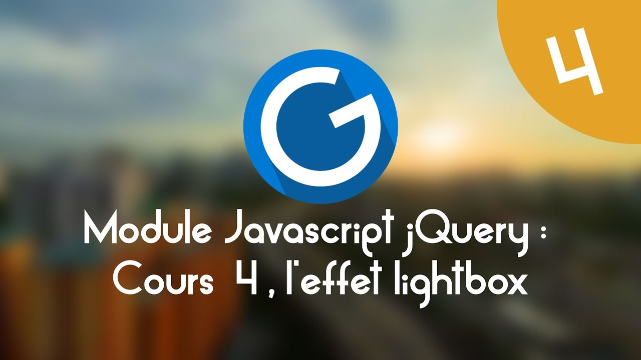 Download Formation IMM - Module Javascript jQuery: Cours tuto 4, l'effet lightbox