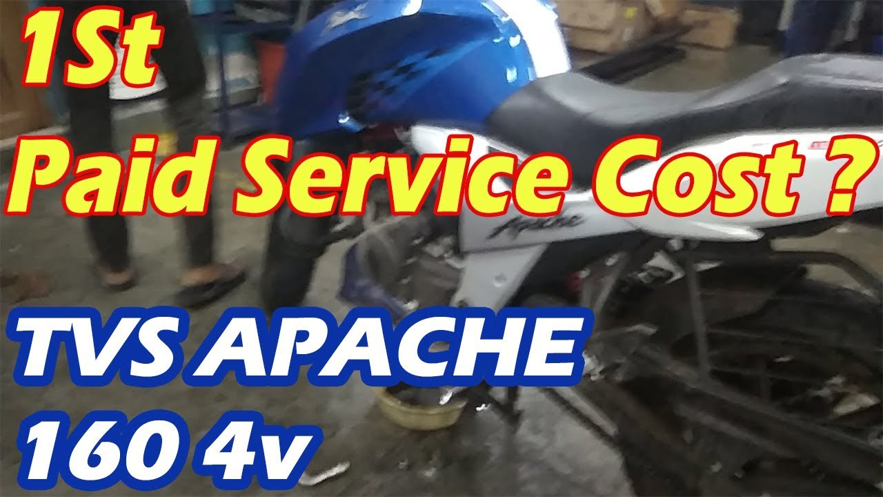 TVS APACHE 160 4V PAID SERVICE COST ?? | MY 1ST APACHE 160 4v PAID SERVICE