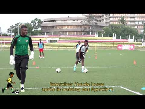 CAN 2019Match Togo Bénin Première séance d'entraînement des Éperviers