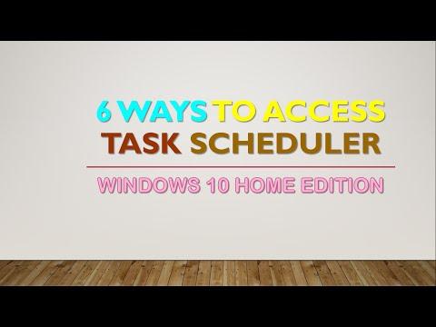 6 WAYS TO ACCESS TASK SCHEDULER | WINDOWS 10