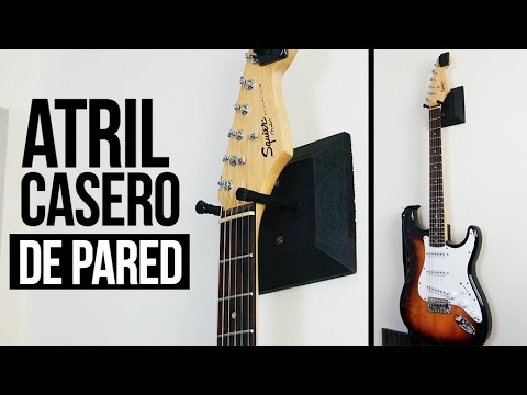 Atril para guitarra casero de pared diy youtube - Ideas para colgar trapos de cocina ...
