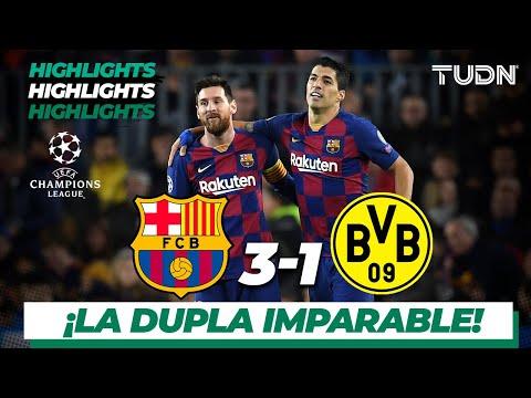 Highlights | Barcelona 3 – 1 Dortmund | Champions League – J5 – Grupo F | Tudn