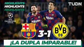 Highlights | Barcelona 3 - 1 Dortmund | Champions League - J5 - Grupo F | TUDN