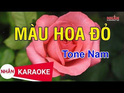 Màu Hoa Đỏ (Karaoke Beat) - Tone Nam