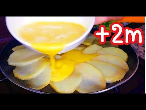 Egg & potato recipe / Recette Dîner Facile à la poêle
