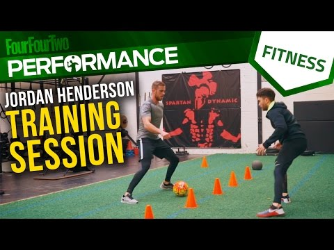 Jordan Henderson training session | Get match-fit for football | Pro tips