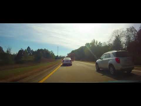 Driving on Interstate 69 from Battle Creek, Michigan to Indiana