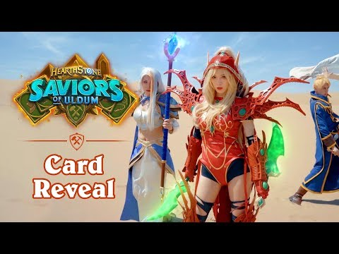 Live Action Card Reveal By AmazingLP | Hearthstone: Saviors Of Uldum