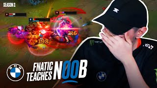 Selfmade coaches noob how to get out of Gold | Fnatic Teaches Noob S2E5 - Presented by BMW