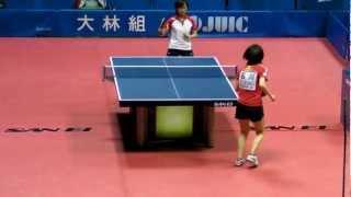 Table Tennis Japan Top 12;Kasumi Ishikawa vs Yuri Yamanashi 2013.2.24