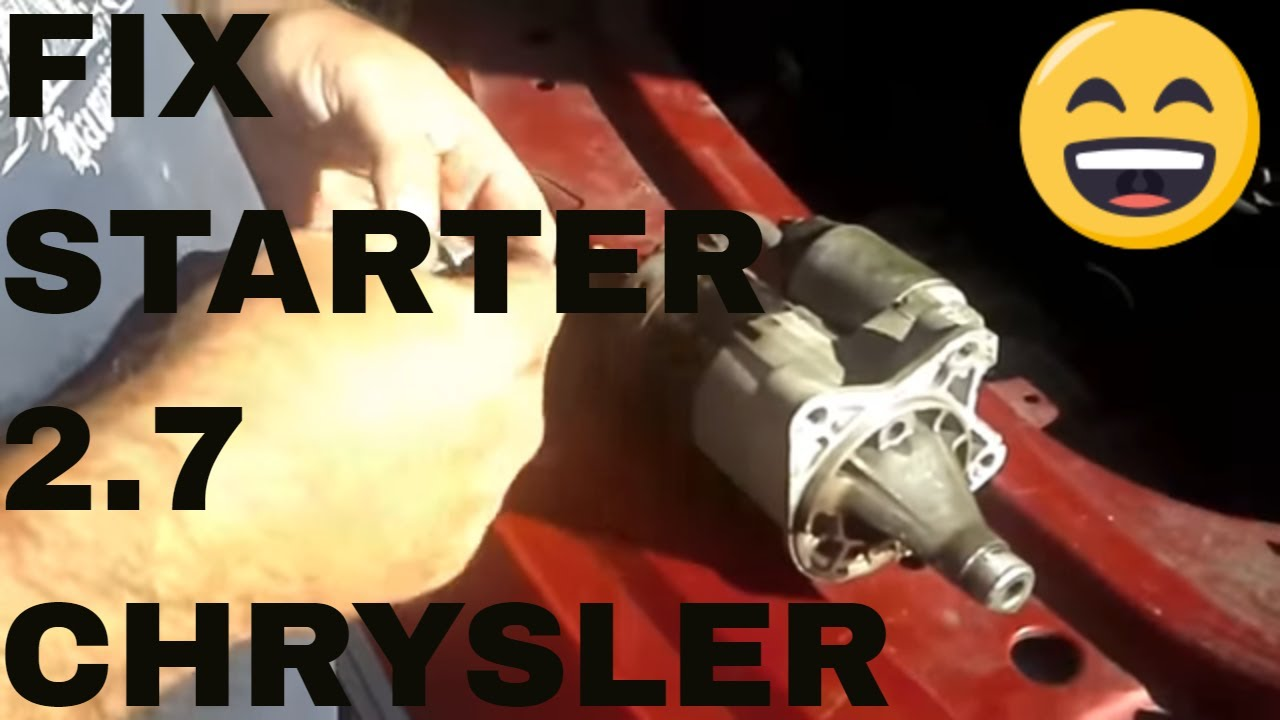 small resolution of replace starter and or motor mount on a chrysler sebring stratus 2 7