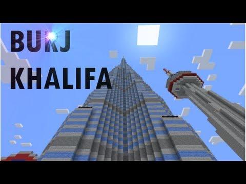 The Burj Khalifa Burj Dubai In Minecraft YouTube